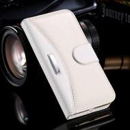 Кожаный чехол Business Fashion Style для iPhone 5\5s\se Белый