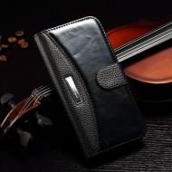 Кожаный чехол Business Fashion Style для iPhone 5\5s\se Черный
