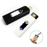 Электронная USB зажигалка (белая)