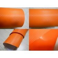 Пленка виниловая карбон оранжевая
