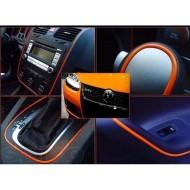 Декоративная полоса самоклеящаяся для отделки авто, гибкая (Оранжевая)